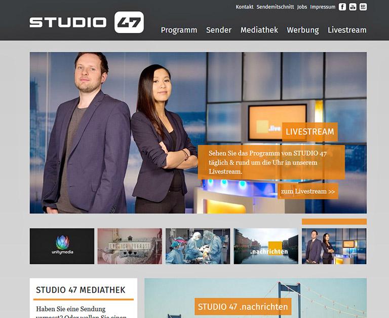 Webseite Studio 47. | Foto: screenshot